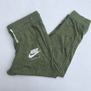 Nike joggers olive green size small